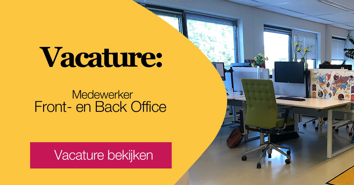 Vacature Front office en Back office